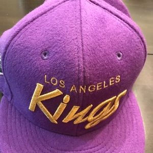 LA Kings 9fifty cap 50th script purple lambskin